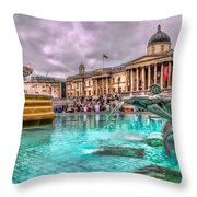 The National Gallery In Trafalgar Square Throw Pillow