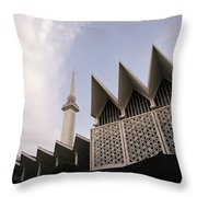 The National Mosque Kuala Lumpur Throw Pillow
