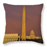 The Nations Capitol Throw Pillow