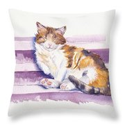 The Naughty Step Throw Pillow