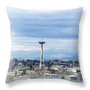 The Needle In Seattle Wa Throw Pillow