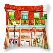 The Neon Sign Co In Colored Pencil Throw Pillow