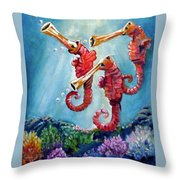 The Neptunes -- Trumpeteers Throw Pillow