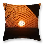 The Netted Sun Throw Pillow
