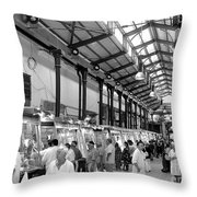 The New Ancient Market Throw Pillow