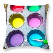 The New Artist  Throw Pillow