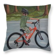 The New Bike Throw Pillow