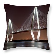 The New Cooper River Bridge Throw Pillow