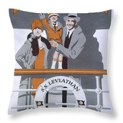 The New Holiday, Vintage Travel Poster Throw Pillow
