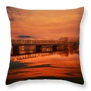 The New Hope Bridge Throw Pillow