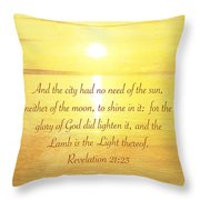 The New Jerusalem Throw Pillow