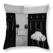 The New Normal In Black And White Throw Pillow