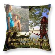 Princess Of The Sacred Lake Throw Pillow
