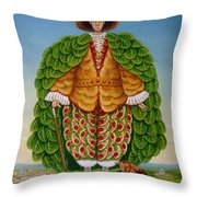 The New Vestments Ivor Cutler As Character In Edward Lear Poem, 1994 Oils And Tempera On Panel Throw Pillow