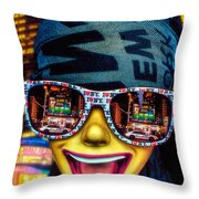 The New York City Tourist Throw Pillow