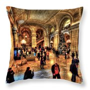 The New York Public Library Throw Pillow