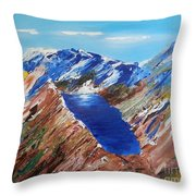 The New Zealand Alps Throw Pillow