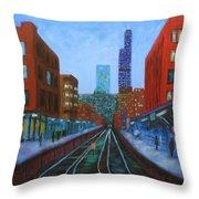 The Next Train Throw Pillow