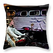 The Nifty Fifties Throw Pillow by Bill Cannon