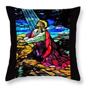 The Night Before The Cross Throw Pillow