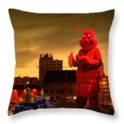 The Night Of The Lobster Man Throw Pillow