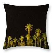 The Night Sky Over Death Valley Throw Pillow