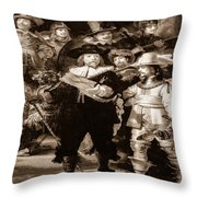 The Night Watch By Rembrandt Throw Pillow