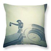 The Night Watchman Throw Pillow