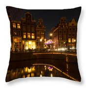 The Nine Streets Amsterdam Throw Pillow