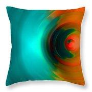 The No.2 Colored Hurricane Throw Pillow