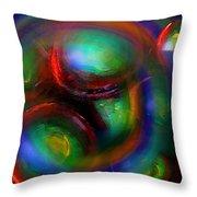 The No.7 Colored Hurricane Throw Pillow