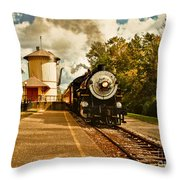 The Noon Train Throw Pillow