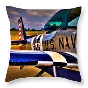 The North American L-17 Navion Aircraft Throw Pillow