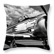 The North American T-6 Texan Throw Pillow by David Patterson
