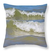 The North Sea Throw Pillow by Angela Doelling AD DESIGN Photo and PhotoArt