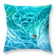 The North Shore Optimist Throw Pillow