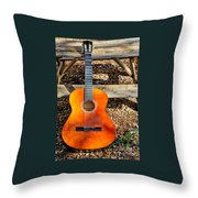 The Not So Old Guitar Throw Pillow