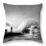 The Nubble In Trouble Throw Pillow