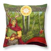 The Oak King Throw Pillow