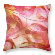 The Oak Leaf Pile Throw Pillow