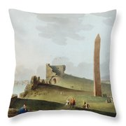 The Obelisks At Alexandria, Called Throw Pillow