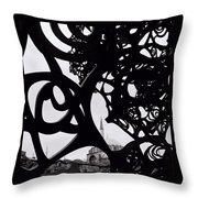 The Obscured Mosque Throw Pillow