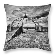 The Observatory Monochrome Throw Pillow