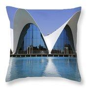 The Oceanografic Valencia Throw Pillow