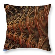 The Odd Beauty Of Fractals Throw Pillow