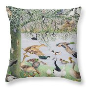 The Odd Duck Acrylic On Canvas Throw Pillow