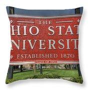 The Ohio State University Throw Pillow