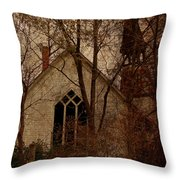 The Old Abandoned Church Throw Pillow