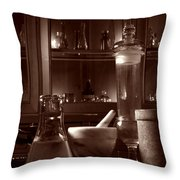 The Old Apothecary Shop Throw Pillow by Olivier Le Queinec