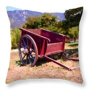 The Old Apple Cart Throw Pillow by Glenn McCarthy Art and Photography